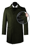 Green double breasted Coat-front_open