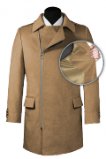 Brown double breasted Coat-front_open