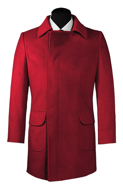 Red double breasted Coat