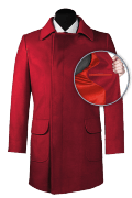 Red double breasted Coat-front_open