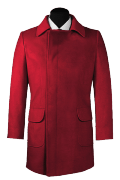 Red double breasted Coat-View Front