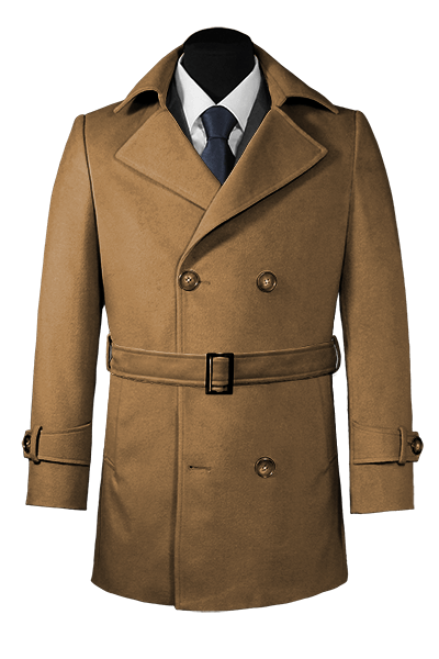 Brown belted Pea coat