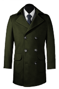 Green double breasted Coat-View Front