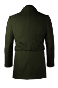Green belted Pea coat-View Back