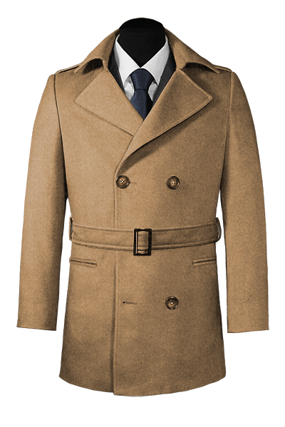 Brown belted Pea coat