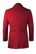 Red Pea coat-View Back