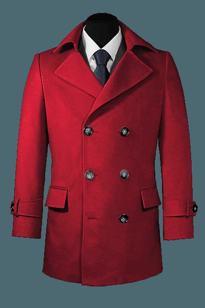 двубортное пальто-бушлат