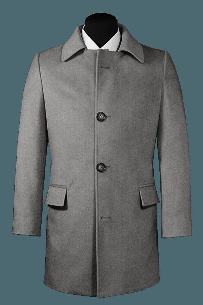 Grauer Mantel