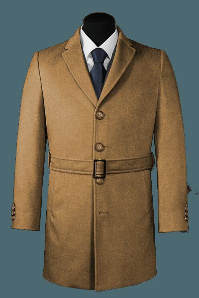 шерстяное пальто с поясом
