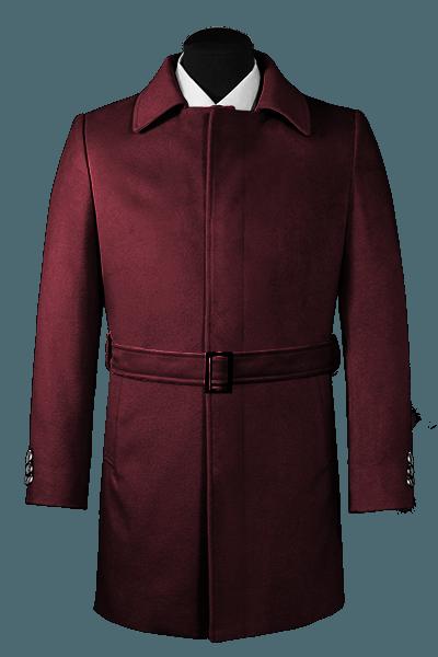 Purple belted Coat