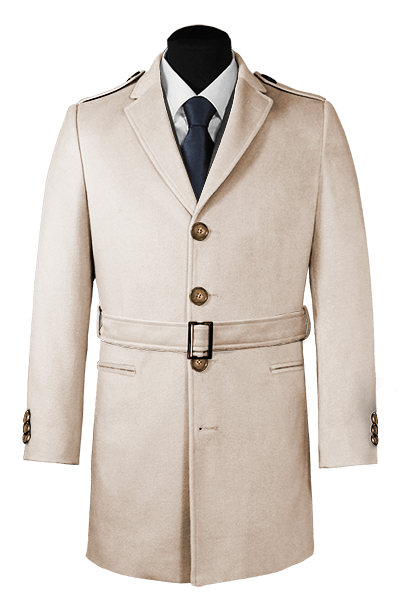 Beige belted Coat