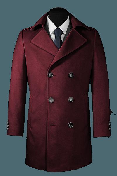 Cappotto doppiopetto viola