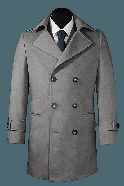 Abrigo gris cruzado
