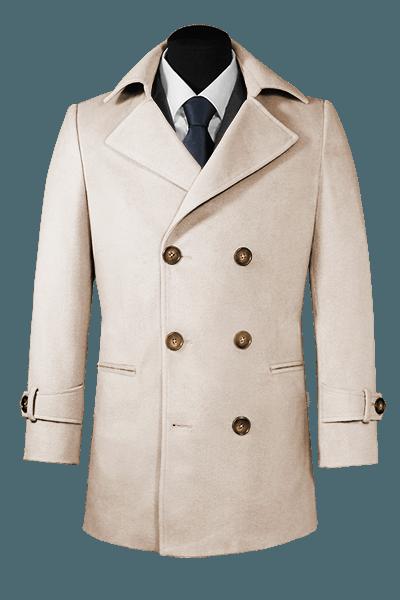 Beige Pea coat