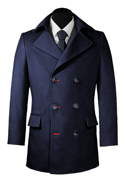 Blue Wool Pea coat
