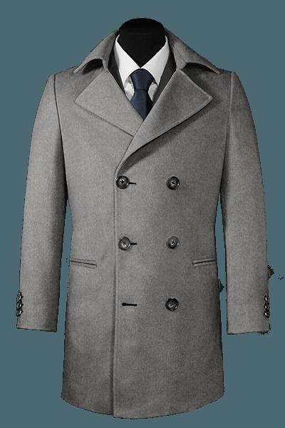 Grey Pea coat