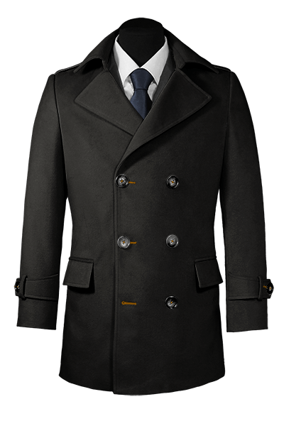 Black Pea coat