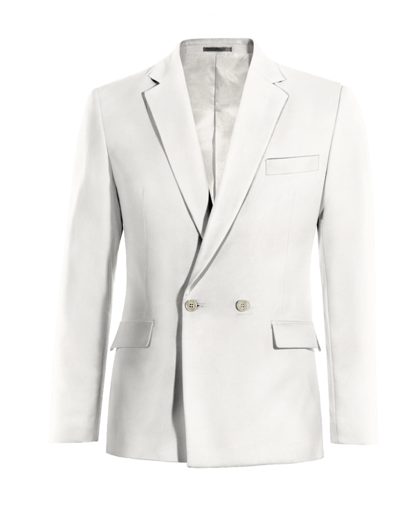 White double breasted wool Blazer