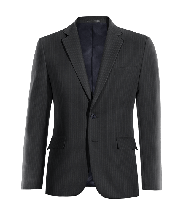 Blue striped wool Blazer