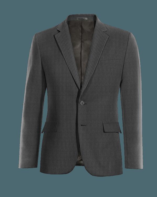 Giacca grigia gessata 100% lana