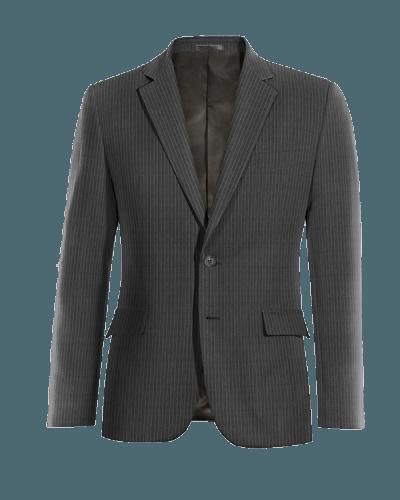 Grey striped wool Blazer