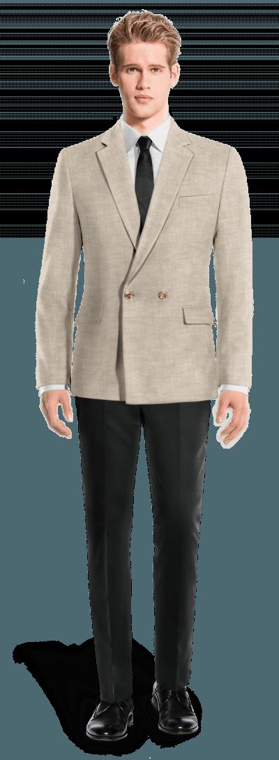 Blazer beige cruzado de lino 119€ - Cadwick  5c247ffbf57