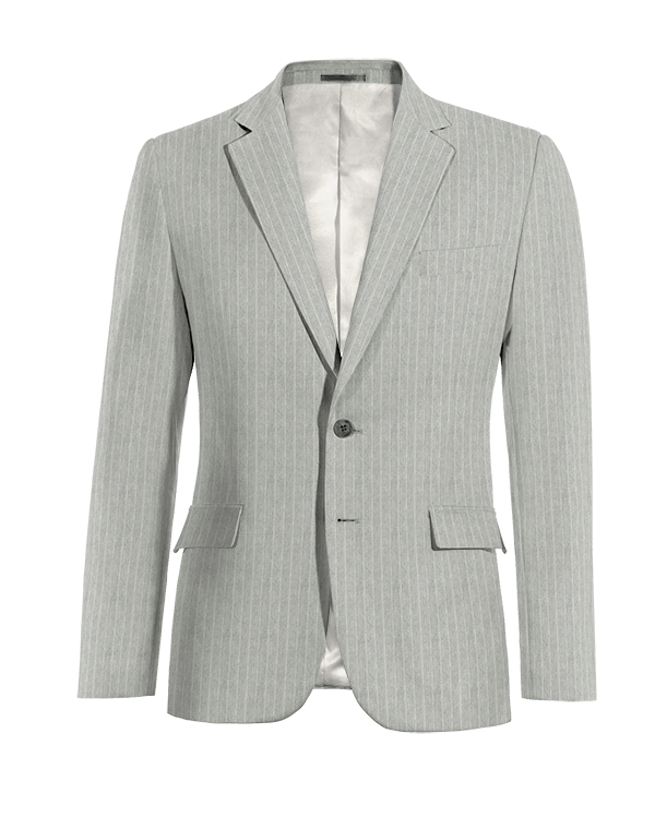 Grey striped linen Blazer