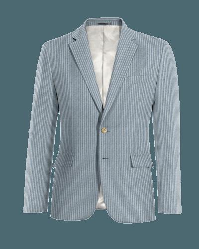 Blue striped linen Blazer
