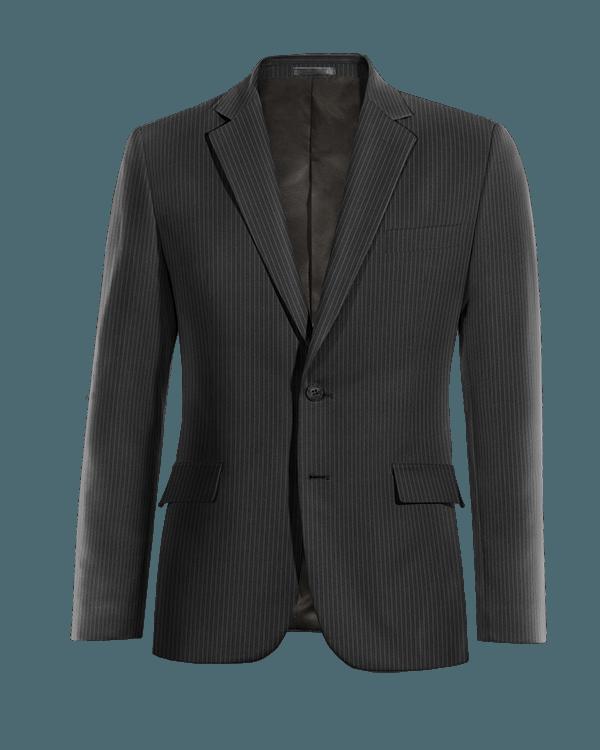 Black striped wool Blazer