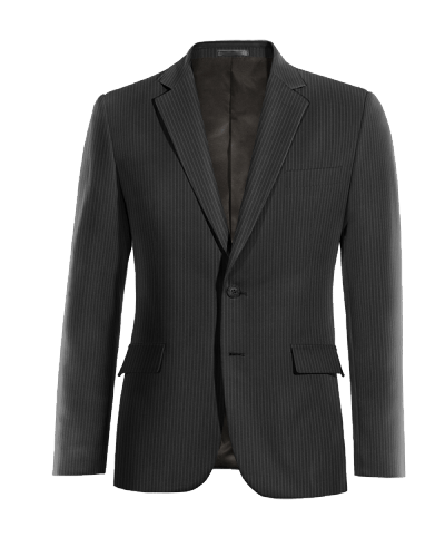 Black striped wool Blazer