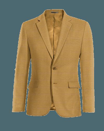 Giacca marrone a quadri 100% lana