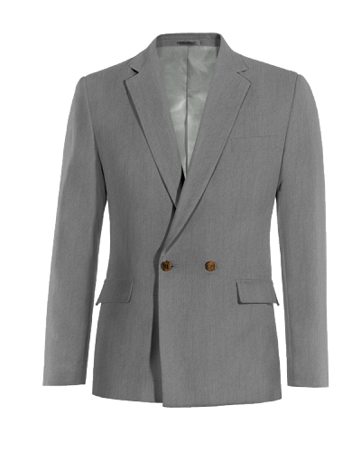 Grey double breasted wool Blazer