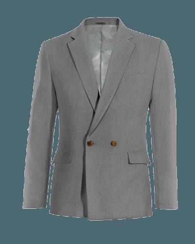 Blazer doppiopetto grigia 100% lana