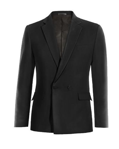 Black double breasted wool Blazer
