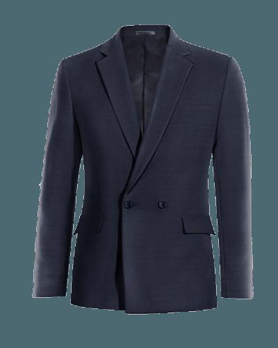 Blue double breasted Merino wool Blazer