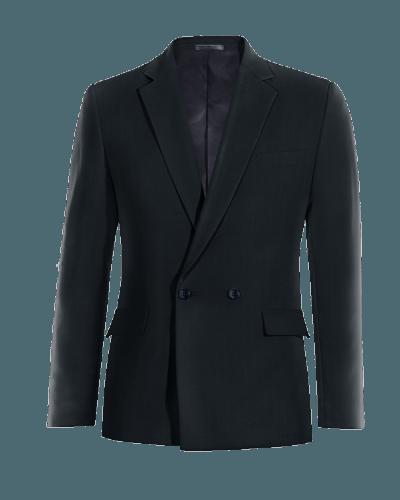 Blaues zweireihiges Sakko aus Wolle