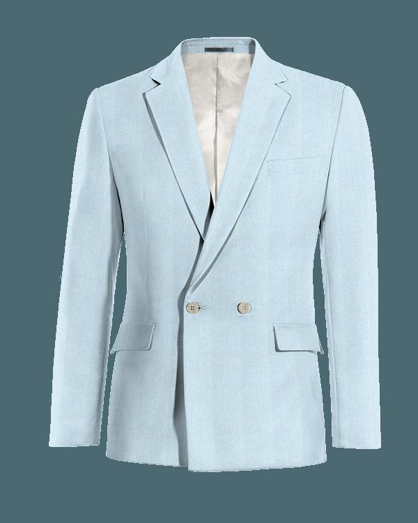 Veste bleue croisée en Lin