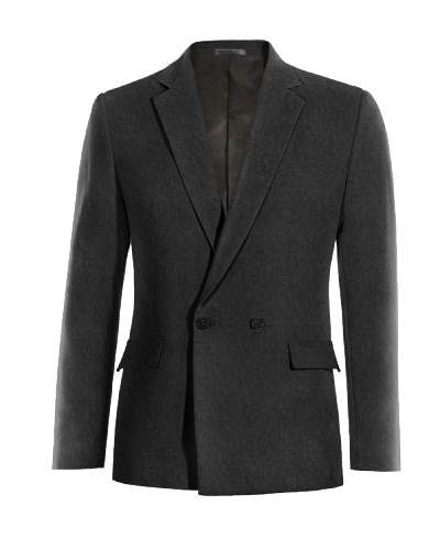 Black double breasted linen Blazer