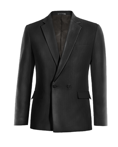 Black double breasted corduroy Blazer