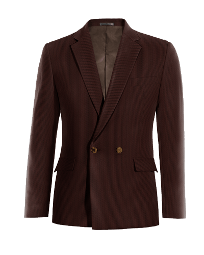 Brown double breasted corduroy Blazer