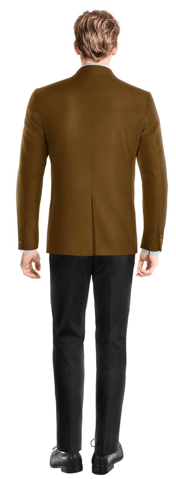 Veste marron croisée en Velours côtelé