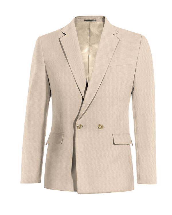 Beige double breasted wool Blazer