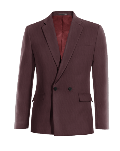 Red double breasted wool Blazer