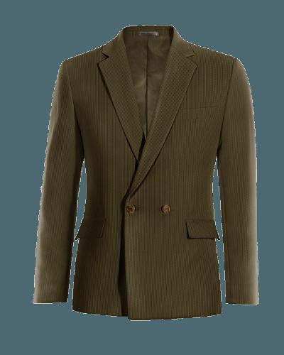 Braunes zweireihiges Sakko aus Cord