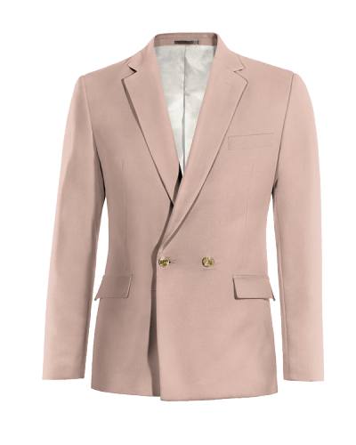 Pink double breasted wool Blazer