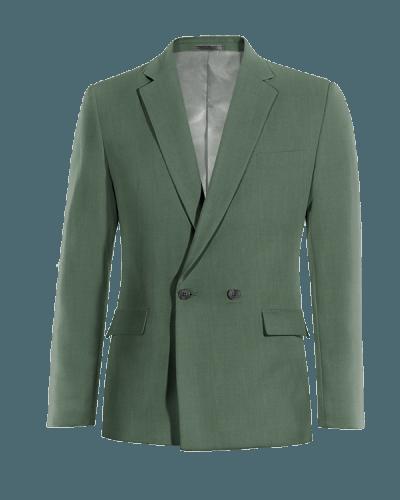 Blazer doppiopetto verde di Lana