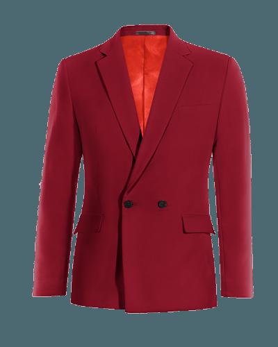 Veste rouge croisée en Laine