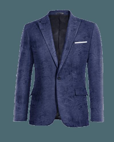 Blue paisley velvet Blazer