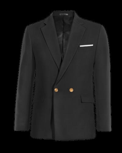 Blazer negra cruzado de algodón 0b622fe1289