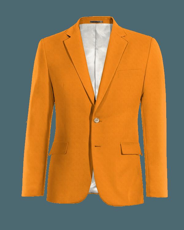 Orangefarbene Sakko aus Baumwolle